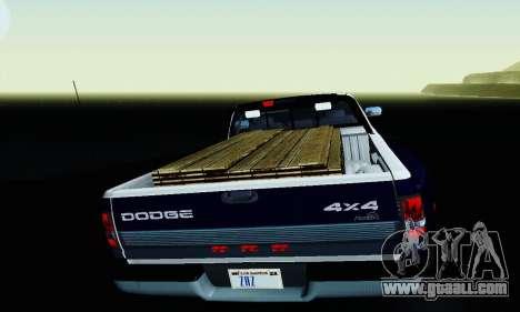 Dodge Ram 3500 for GTA San Andreas upper view