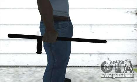 Telescopic baton for GTA San Andreas second screenshot