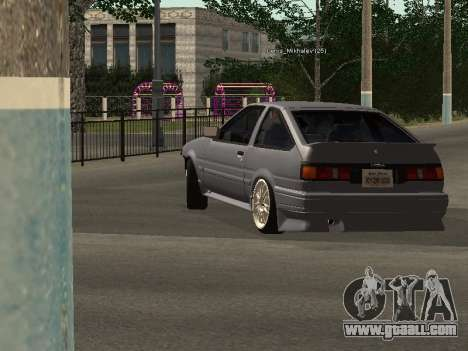Toyota Corolla GTS Drift Edition for GTA San Andreas back left view