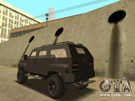 Ford Super Duty Armored for GTA San Andreas left view