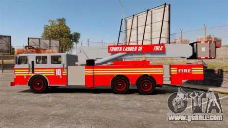 MTL Firetruck Tower Ladder [ELS-EPM] for GTA 4 left view