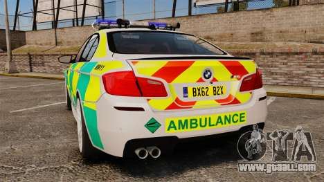 BMW M5 Ambulance [ELS] for GTA 4 back left view