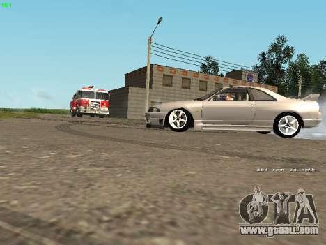 Nissan Skyline R33 GT-R for GTA San Andreas back left view