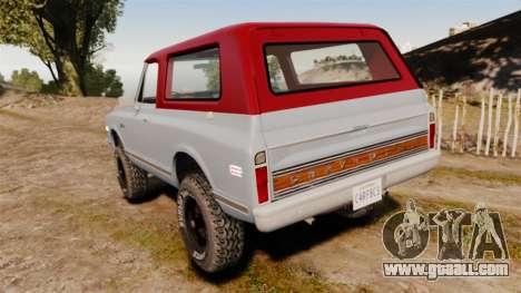 Chevrolet K5 Blazer for GTA 4 back left view