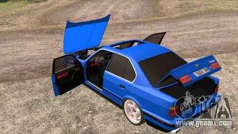 BMW 535i E34 Mafia Style for GTA San Andreas side view