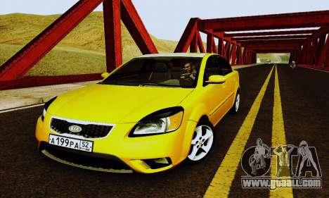 Kia Rio II 2009 for GTA San Andreas