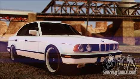 BMW 535i E34 Mafia Style for GTA San Andreas bottom view