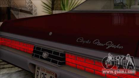 Chrysler New Yorker 4 Door Hardtop 1971 for GTA San Andreas upper view