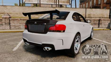 BMW 1M 2014 for GTA 4 back left view