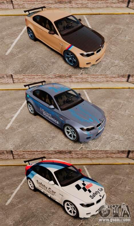 BMW 1M 2014 for GTA 4 bottom view