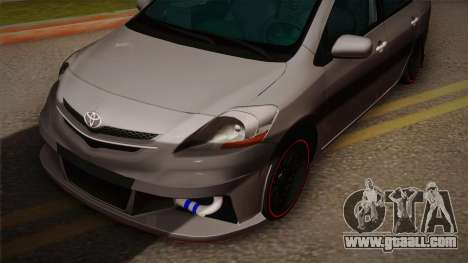 Toyota Vios Slalom Edition for GTA San Andreas back left view