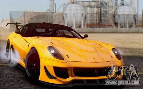 Ferrari 599XX Evolution for GTA San Andreas back view