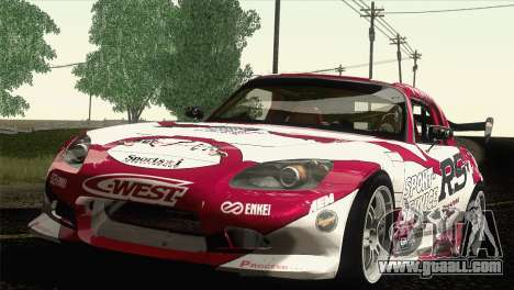 Honda S2000 RS-R for GTA San Andreas inner view