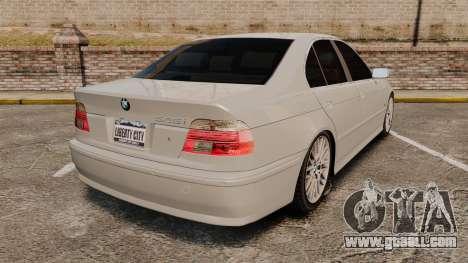 BMW 525i (E39) for GTA 4 back left view