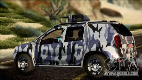 Dacia Duster Army Skin 3 for GTA San Andreas left view