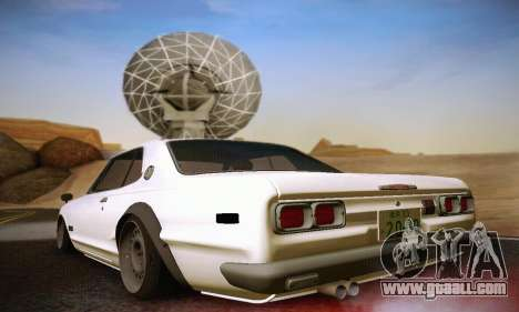 Nissan Skyline 2000GTR 1967 Hellaflush for GTA San Andreas right view