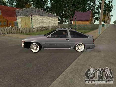 Toyota Corolla GTS Drift Edition for GTA San Andreas left view
