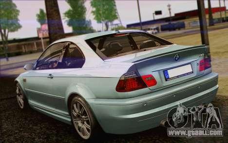 BMW M3 E46 2005 for GTA San Andreas upper view