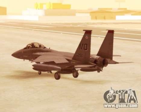 F-15E Strike Eagle for GTA San Andreas right view