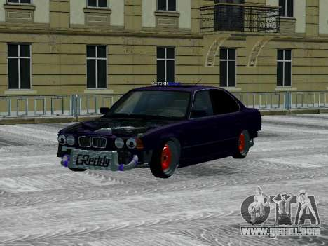 BMW 525i e34 Hobo for GTA San Andreas back left view