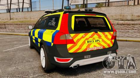 Volvo XC70 Police [ELS] for GTA 4 back left view