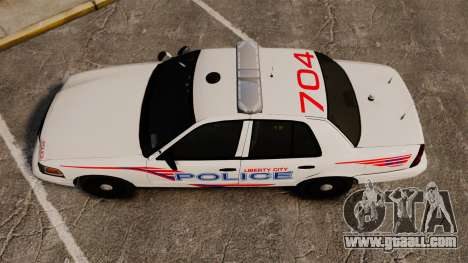 Ford Crown Victoria 2008 LCPD Patrol [ELS] for GTA 4 right view