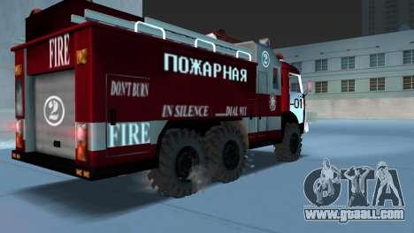 KAMAZ 43101 Firefighter for GTA Vice City left view