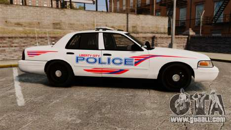 Ford Crown Victoria 2008 LCPD Patrol [ELS] for GTA 4 left view