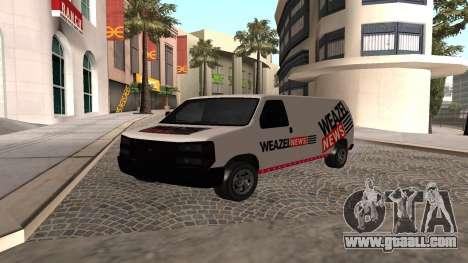 Newsvan Rumpo GTA 5 for GTA San Andreas