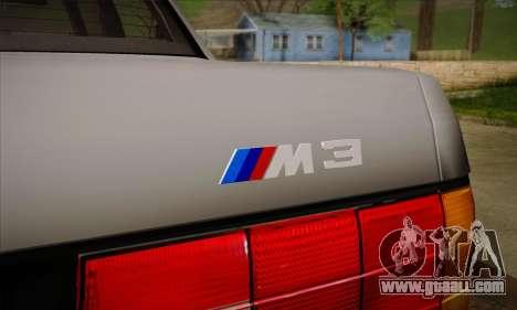 BMW M3 E30 for GTA San Andreas wheels