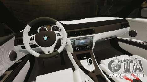 BMW M3 GTS Widebody for GTA 4 bottom view