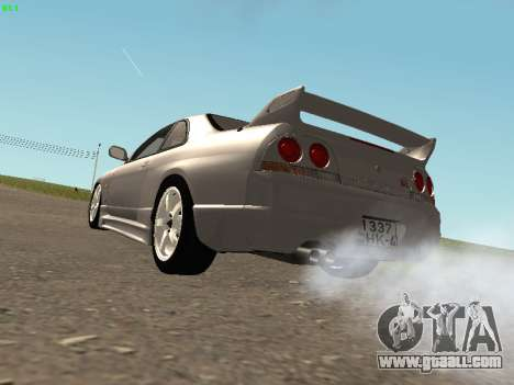 Nissan Skyline R33 GT-R for GTA San Andreas right view