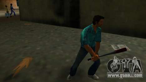 Bloodstained Baseball Bat for GTA Vice City second screenshot