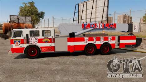 MTL Firetruck Tower Ladder FDLC [ELS-EPM] for GTA 4 left view