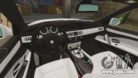 BMW M5 E60 City Of London Police [ELS] for GTA 4 inner view