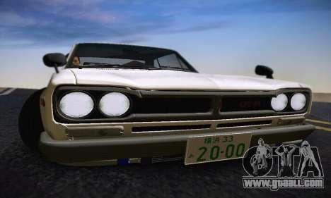Nissan Skyline 2000GTR 1967 Hellaflush for GTA San Andreas interior