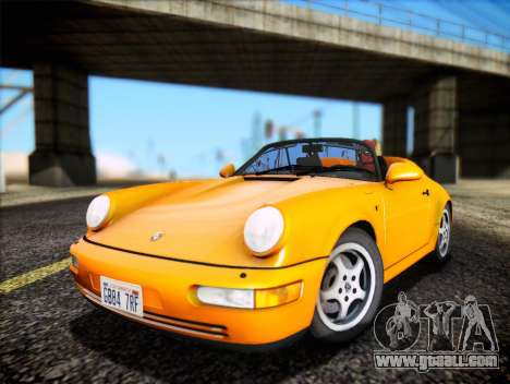 Porsche 911 Speedster Carrera 2 1992 for GTA San Andreas back view