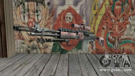 M14 EBR Red Tiger for GTA San Andreas