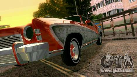 Chevy Monte Carlo Lowrider for GTA Vice City upper view