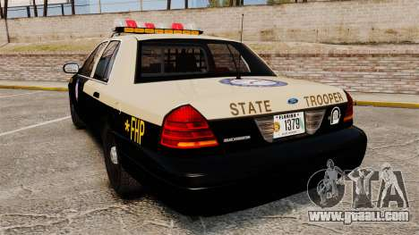 Ford Crown Victoria 1999 Florida Highway Patrol for GTA 4 back left view