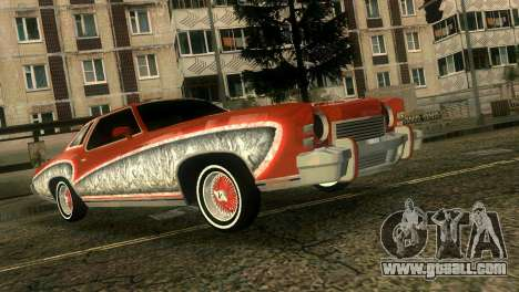Chevy Monte Carlo Lowrider for GTA Vice City inner view