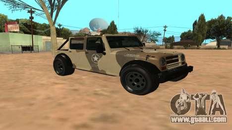 Crusader GTA 5 for GTA San Andreas left view