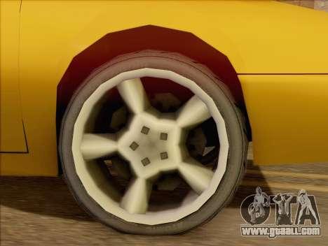 Stratum Sedan Sport for GTA San Andreas back left view