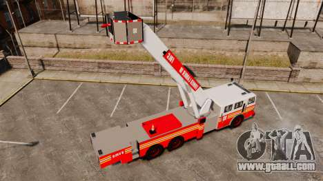 MTL Firetruck Tower Ladder [ELS-EPM] for GTA 4 back view