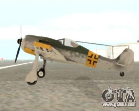 Focke-Wulf FW-190 F-8 for GTA San Andreas left view