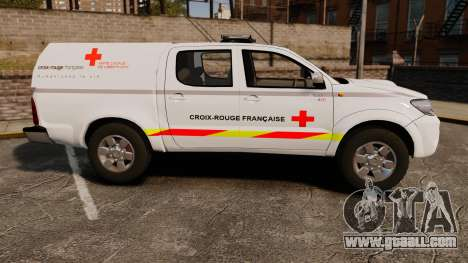 Toyota Hilux French Red Cross [ELS] for GTA 4 left view