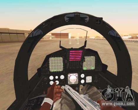 F-15E Strike Eagle for GTA San Andreas bottom view