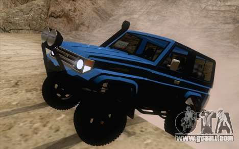 Toyota Fj70 4x4 2008 for GTA San Andreas back left view