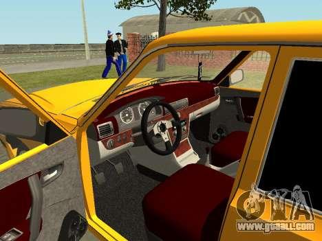 GAZ Volga 31105 for GTA San Andreas inner view