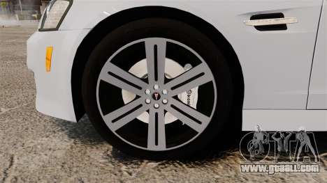 Pontiac G8 Sport Truck 2010 for GTA 4 back view